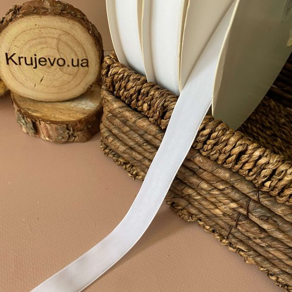 Бархатные ленты 2 см №01 бел. (дк0012)