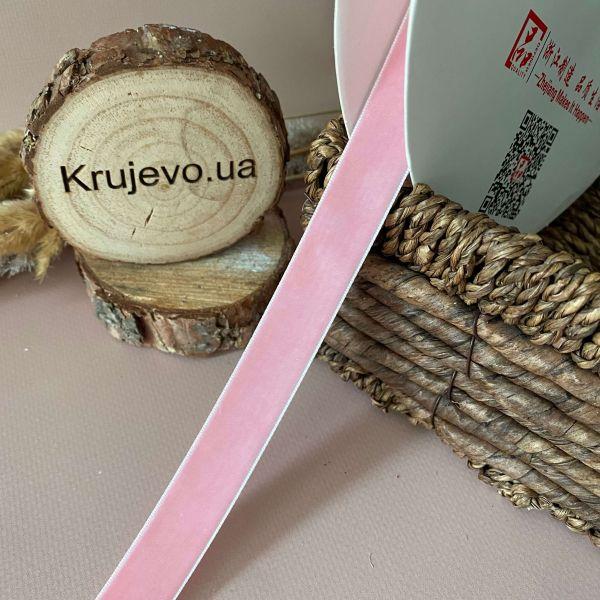 Бархатные ленты 2 см розовая № 09 (дк0012)