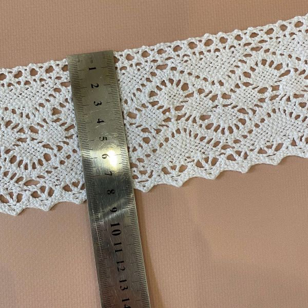 Кружево белое льняное 8,5 см (кр0430)