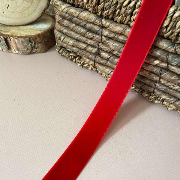 Бархатные ленты 2 см №45 красная (дк0012)