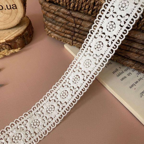 """Кружево макраме """"Бантовый цветок"""" 3,5 см (кр0442)"""