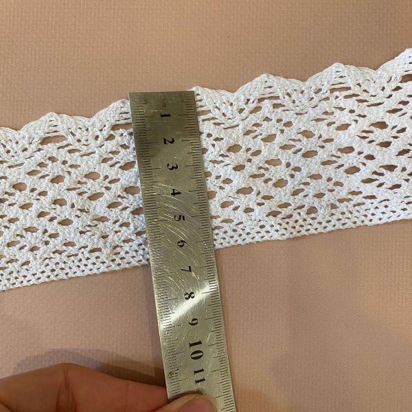 Кружево белое льняное 6.5 см (кр0226а)