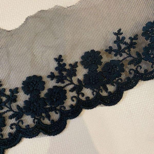"""Кружево """"Цветочное поле"""" 8,5 см (кр0235) черн"""