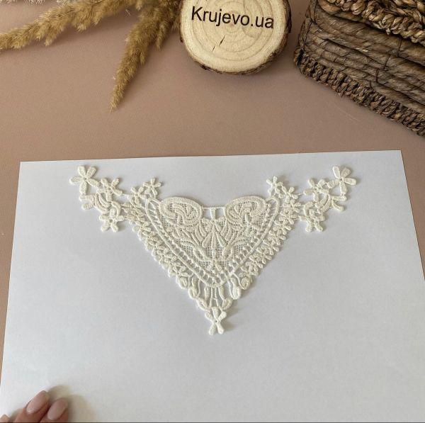 """Кружевной декор макраме """"Сердце"""" кр0416 (9смна20см)"""