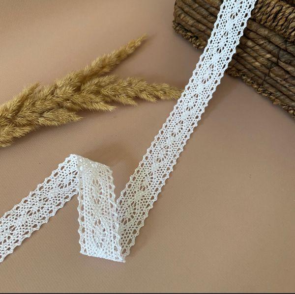 Кружево хлопковое 3 см (кр0166в)бел